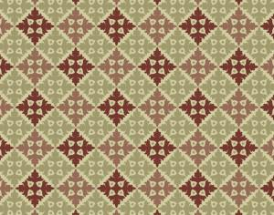 Ornate Vintage Green and Maroon Pattern Photoshop brush