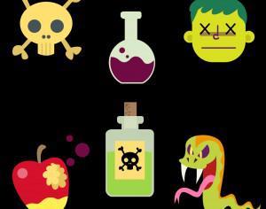 Cartoon Poison Vector Set Photoshop brush