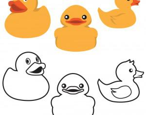 Rubber Duck Colors And Outlines Photoshop brush