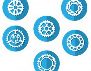 Bike Sprocket Icons Photoshop brush