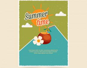 Summer  retro poster Photoshop brush