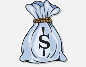 Bag full with money Photoshop brush