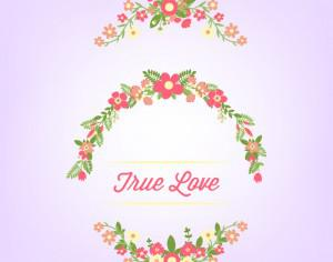 Hand drawn floral frames Photoshop brush