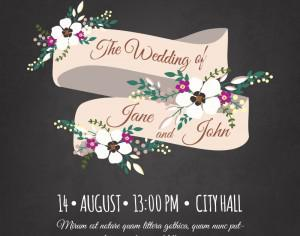 Wedding invitation card Photoshop brush