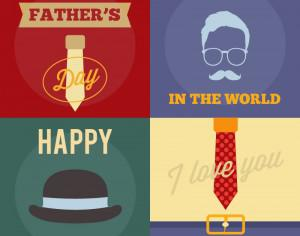 Father's Day Retro Cards Photoshop brush