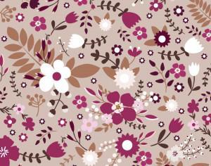 Retro floral seamless pattern Photoshop brush