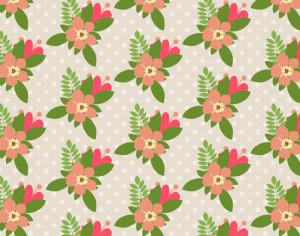 Seamless flower pattern Photoshop brush