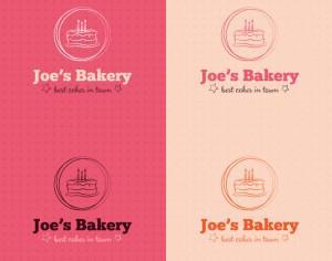 Bakery cake logo design Photoshop brush