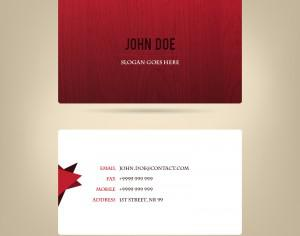 Abstract business card, wood texture Photoshop brush