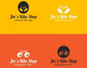 Bicycle logos design Photoshop brush