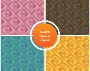 Seamless vector geometric patterns set Photoshop brush