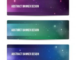 Starry sky banners design Photoshop brush