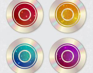 CD design with starry sky cover Photoshop brush