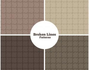 Broken Lines Patterns Photoshop brush