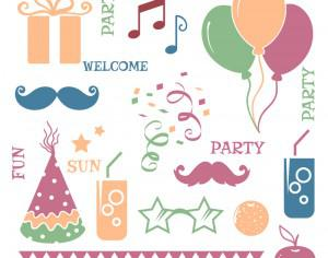 Celebration vector elements Photoshop brush
