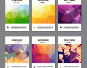 Set of modern cover brochures Photoshop brush