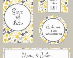 Floral wedding cover and card Photoshop brush
