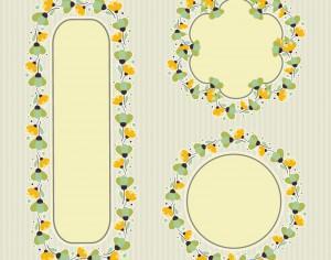 Set of floral frames  Photoshop brush