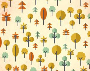 Seamless pattern with trees Photoshop brush