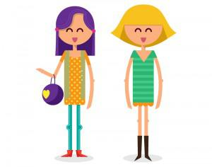 Girls shopping vector illustration Photoshop brush