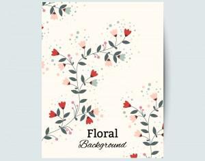 Floral vintage flyer Photoshop brush