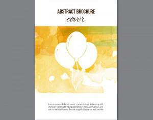Watercolor  brochure  Photoshop brush