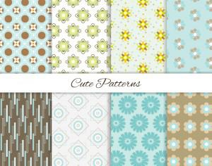 Seamless patterns set Photoshop brush