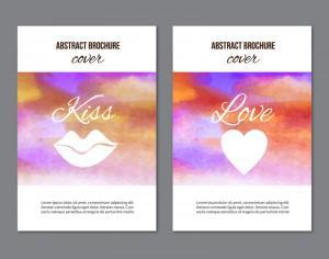 Watercolor  brochures Photoshop brush