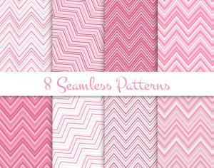Pink zig zag seamless patterns set Photoshop brush