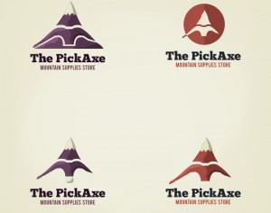 Vector pick axe logo Photoshop brush