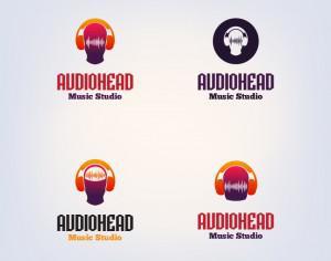 DJ vector logo design template Photoshop brush