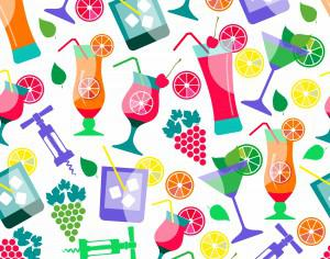 Seamless pattern of cocktails Photoshop brush