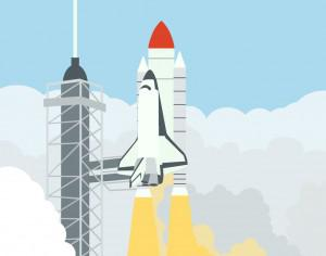 launching space shuttle Photoshop brush