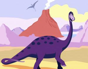 dinosaur cartoon Photoshop brush