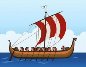 viking ship Photoshop brush