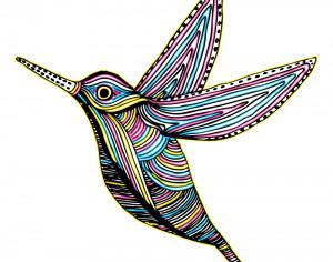 CMYK Colibri Bird Flying Photoshop brush