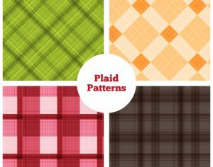 Plaid Vector Patterns Photoshop brush