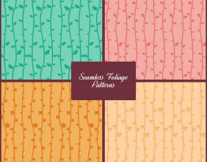 Seamless Foliage Vector Patterns Photoshop brush