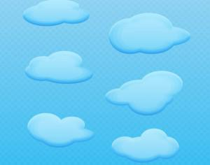 Vector Cartoon Clouds Photoshop brush