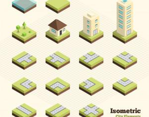 Isometric City Elements Photoshop brush