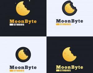 Moon Byte Logo Design Photoshop brush