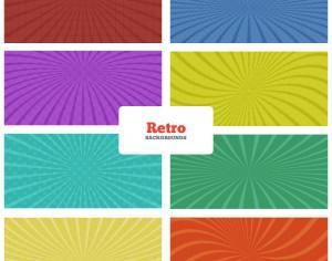 Retro Backgrounds Set Photoshop brush
