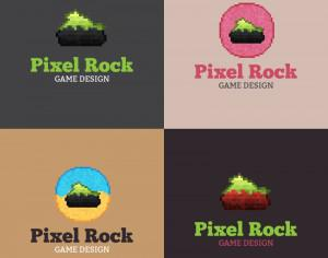 Pixel Rock Logo Design Photoshop brush