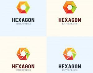 Hexagon Logo Design Photoshop brush