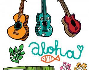 Colorful Cartoon Ukulele Vectors Photoshop brush