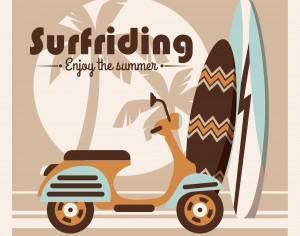 Illustration of surfriding. Photoshop brush