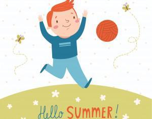 Hello summer vector card Photoshop brush