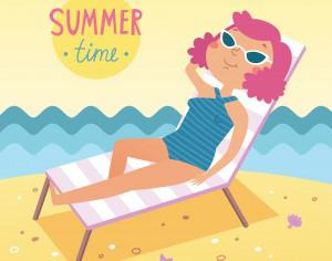 Summer time vector card Photoshop brush