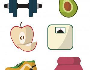 Healthy lifestyle diet vectors Photoshop brush