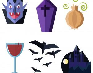 Dracula themed vector set Photoshop brush